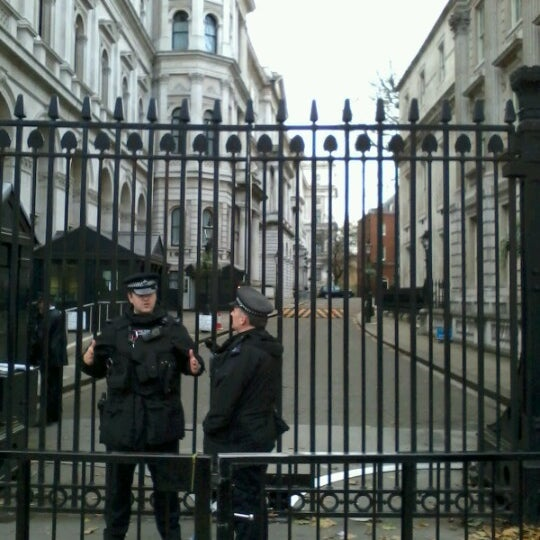 Photo taken at 10 Downing Street by Ruth T. on 11/25/2012