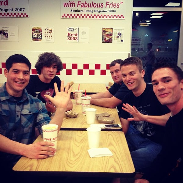 Photo taken at Five Guys by Nicholas on 3/27/2013