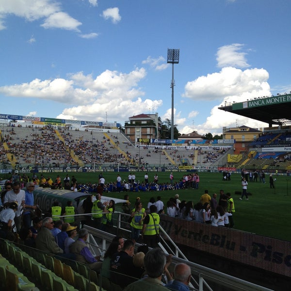 Photo taken at Stadio Ennio Tardini by Manuel V. on 5/12/2013