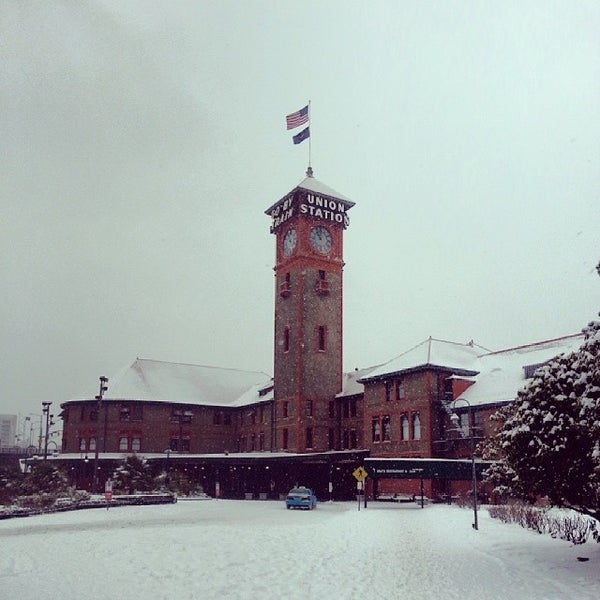 Photo taken at Union Station Amtrak (PDX) by Beth H. on 2/8/2014