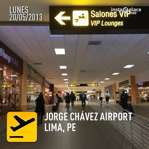 Photo taken at Aeropuerto Internacional Jorge Chávez (LIM) by Sergio G. on 5/20/2013