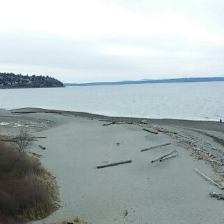 Photo taken at Carkeek Park by Geoff S. on 2/8/2014