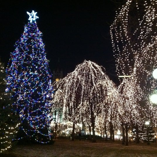 Photo taken at Rice Park by David W. on 11/25/2012