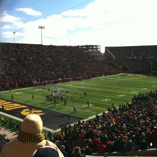 Photo taken at Kinnick Stadium by Krista R. on 11/23/2012