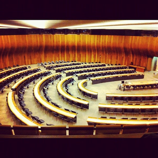 Photo taken at Palais des Nations by Jordan J. on 11/5/2012