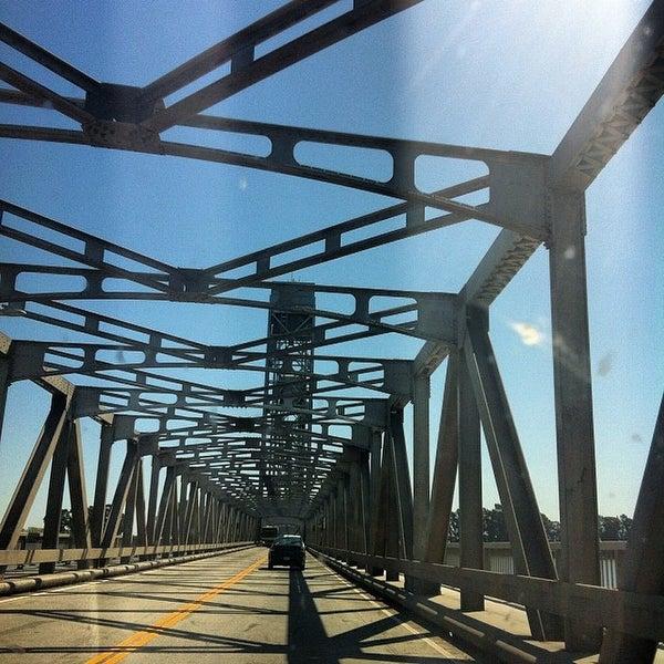 Photo taken at Rio Vista Bridge by Andy B. on 3/22/2014