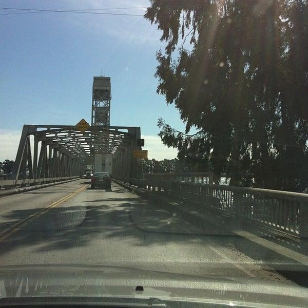 Photo taken at Rio Vista Bridge by Andy B. on 3/8/2013
