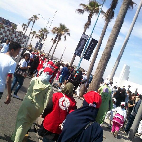 Photo taken at La Corniche de Casablanca by Sofia L. on 5/5/2013