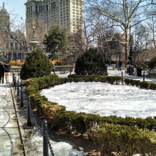 Photo taken at City Hall Park by Vinicius P. on 3/11/2014