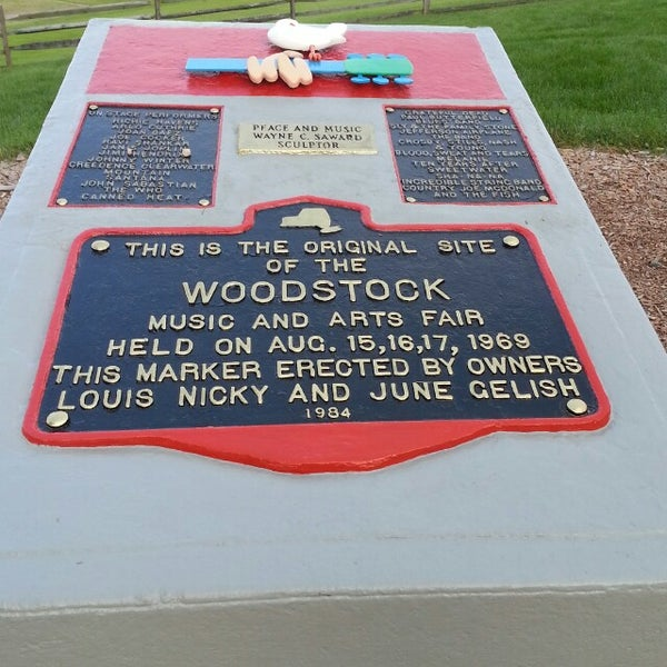 Photo taken at Woodstock Festival Concert Site/Monument by Jackie H. on 6/23/2013