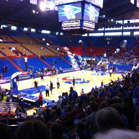 Photo taken at Allen Fieldhouse by Hillary on 1/6/2013