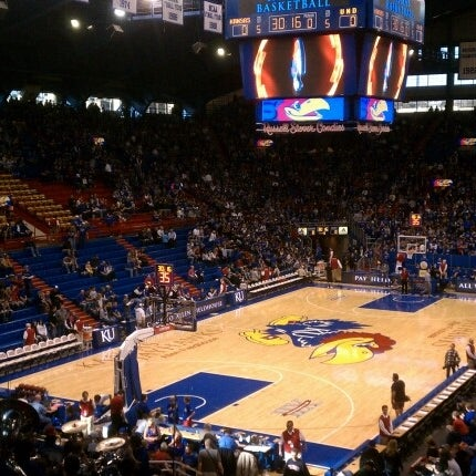 Photo taken at Allen Fieldhouse by Joshua B. on 12/31/2011