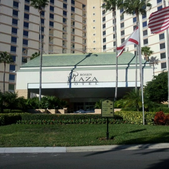 Photo taken at Rosen Plaza Hotel by Ryan B. on 11/9/2012