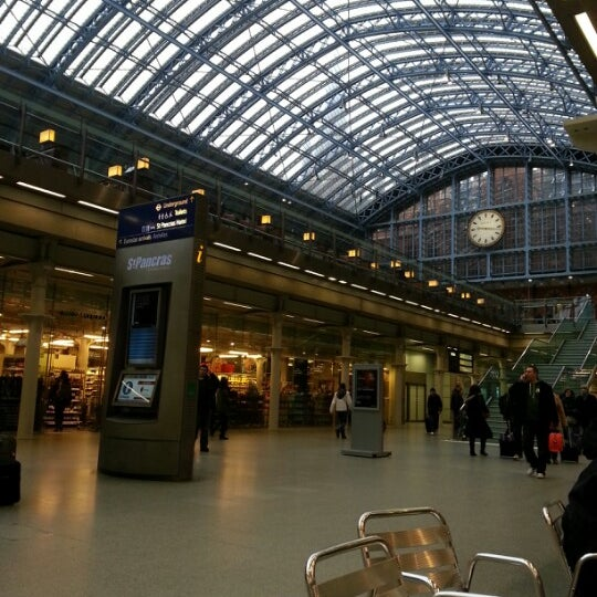 Photo taken at London St Pancras International Railway Station (STP) by Daniya A. on 1/2/2013