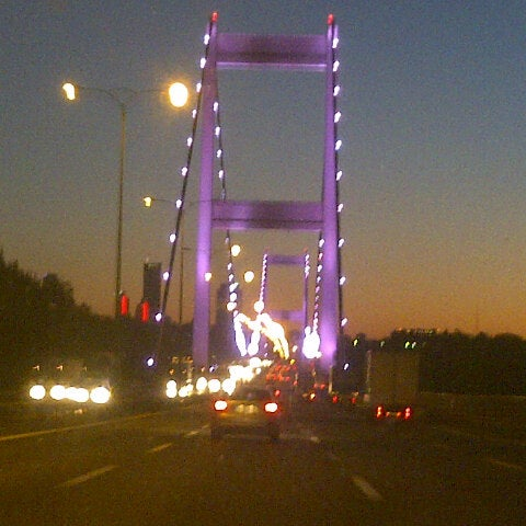 Photo taken at Fatih Sultan Mehmet Bridge by Emne C. on 7/22/2013