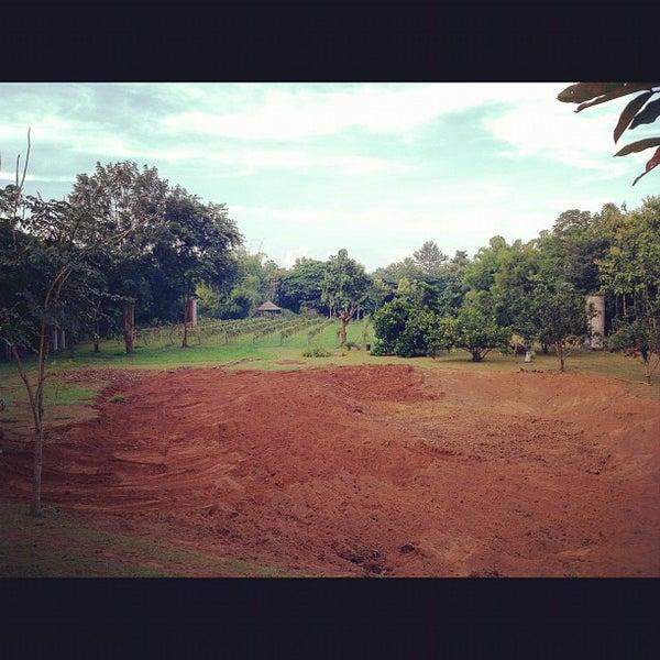 Photo taken at Lampang Vineyard by Jesada K. on 9/26/2012