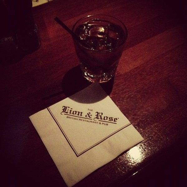 Photo taken at The Lion & Rose British Restaurant & Pub by Caleb G. on 11/24/2012