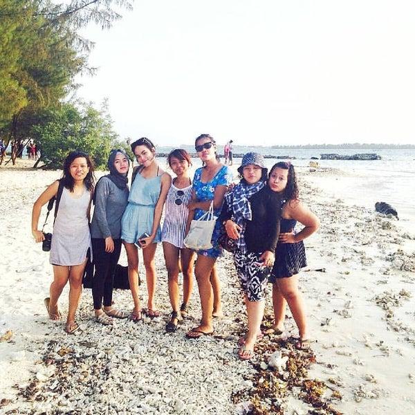 Photo taken at Pulau Pramuka by Valeria A. on 10/4/2015
