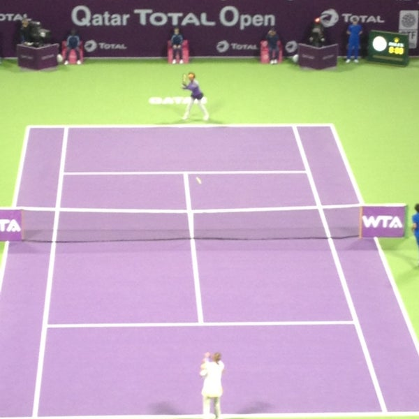 Photo taken at Qatar Tennis Federation by Maricris on 2/17/2013
