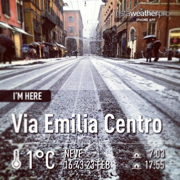 Photo taken at Via Emilia Centro by Marco on 2/23/2013
