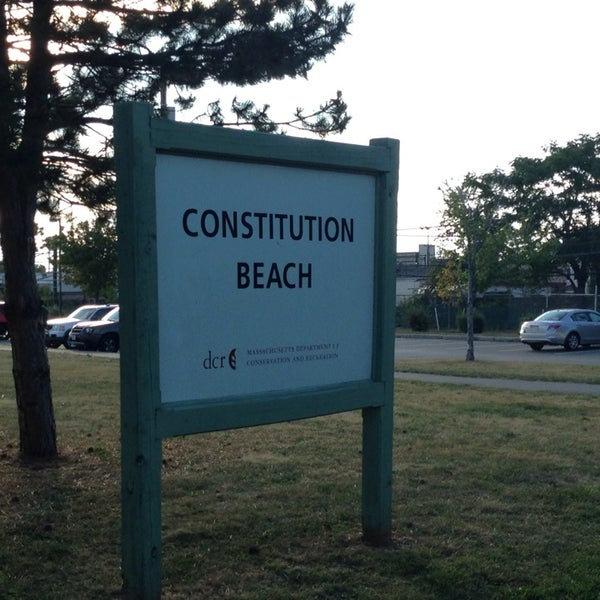 Photo taken at Constitution Beach by Anna on 8/28/2014