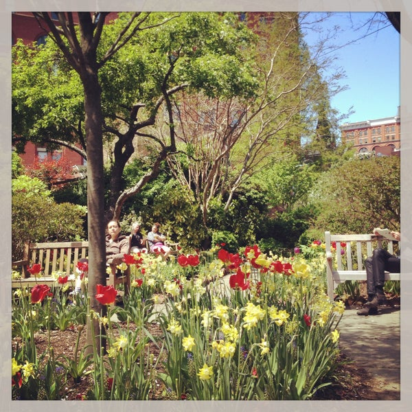 Photo taken at The Garden at St. Luke in the Fields by Christine on 5/4/2013