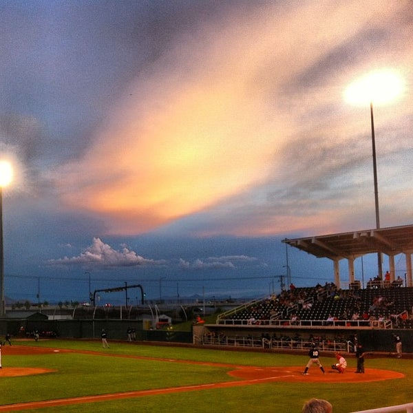Photo taken at Home of the Owlz (Brent Brown Ballpark) by Kris J. on 8/22/2013