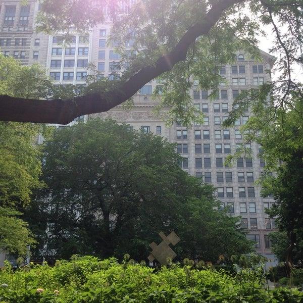 Photo taken at Sculpture Garden - Art Institute of Chicago by T H. on 6/21/2014