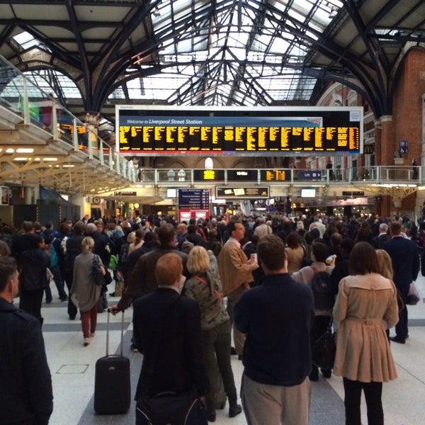Photo taken at London Liverpool Street Railway Station (ZLS) by Сергей on 10/24/2013