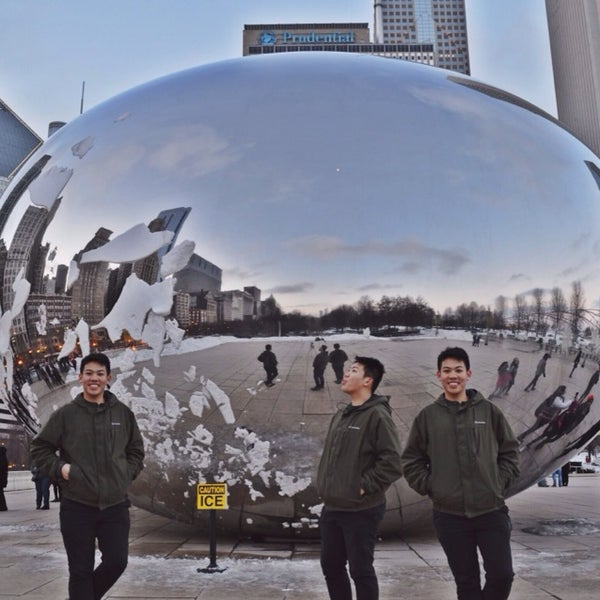 Photo taken at Cloud Gate by Earl V. on 3/9/2014