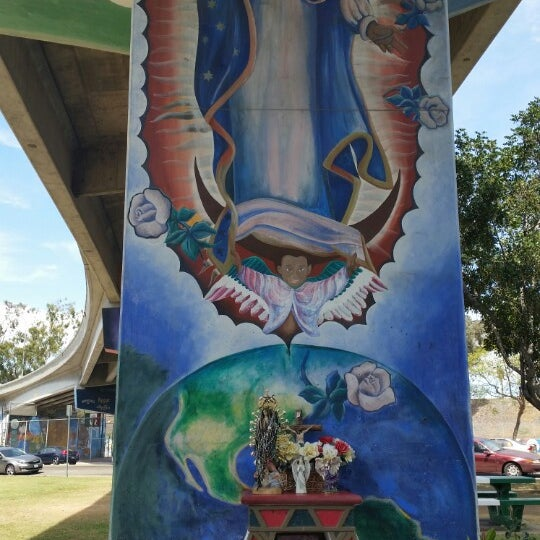 Photo taken at Chicano Park by Jokie T. on 4/7/2015