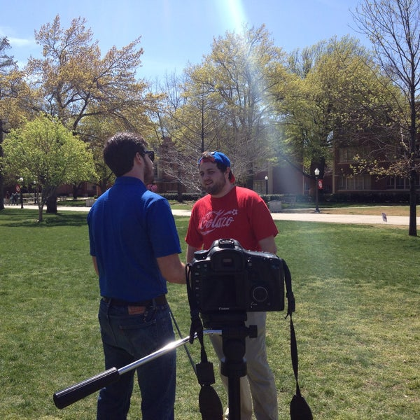 Photo taken at South Oval by Madster on 4/4/2015