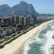 Photo taken at Praia da Barra da Tijuca by Victor A. on 9/19/2012