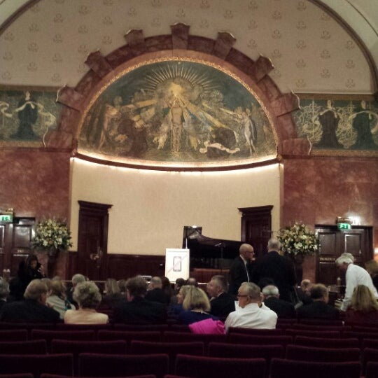 Photo taken at Wigmore Hall by Peter Y. on 10/22/2013