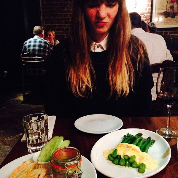 Photo taken at Hawksmoor by Zoe A. on 5/28/2014
