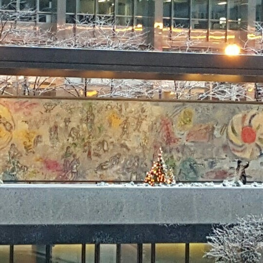 """Photo taken at Chagall Mosaic, """"The Four Seasons"""" by Sanni K. on 11/21/2015"""