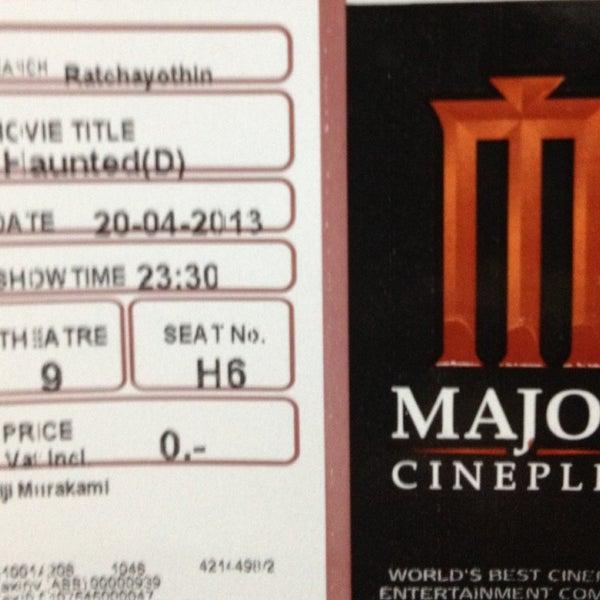 Photo taken at Major Cineplex Ratchayothin by Eiji M. on 4/20/2013