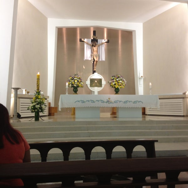 Photo taken at Paróquia Santa Mônica by Delânia C. on 4/14/2013