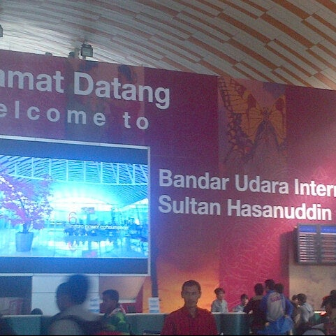 Photo taken at Sultan Hasanuddin International Airport (UPG) by Grace R. on 5/15/2013