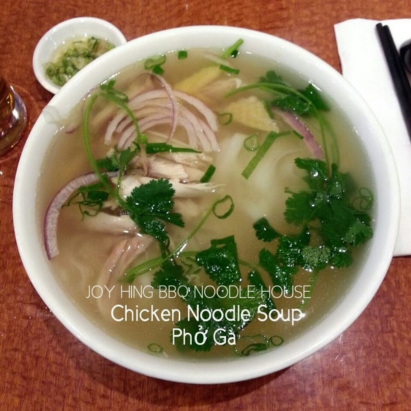 Photo taken at Joy Hing Noodle House 再興黃毛鷄粉 by Jonas on 3/27/2013
