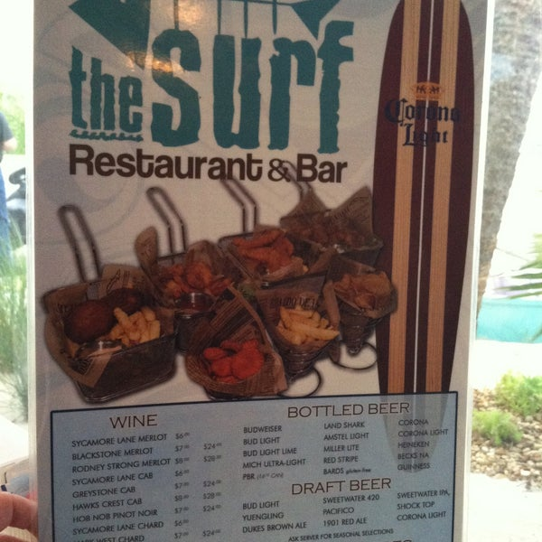 Photo taken at The Surf Restaurant & Bar by Candy F. on 6/8/2013