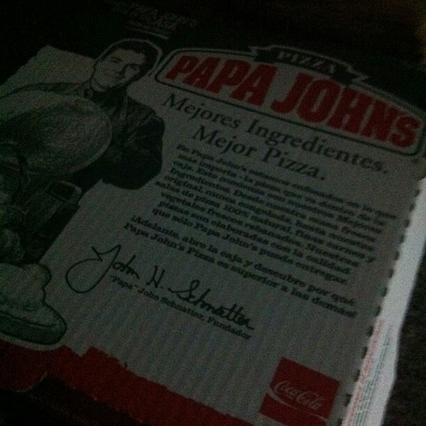 Photo taken at Papa John's by Fran G. on 12/23/2012
