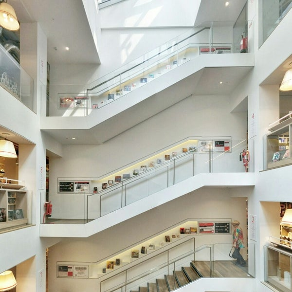 Photo taken at Foyles by Jonathan C. on 7/28/2014