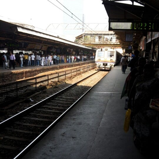 Photo taken at Dadar Railway Station by Glen H. on 10/14/2012