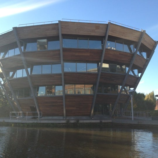 Photo taken at Djanogly Learning Resource Centre by Kingyo S. on 10/16/2012