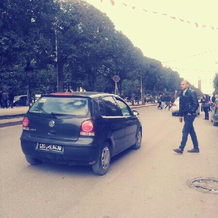 Photo taken at Avenue Habib Bourguiba by Amine B. on 2/11/2013