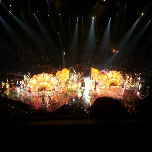 Photo taken at The Beatles LOVE (Cirque Du Soleil) by Todd S. on 4/13/2013
