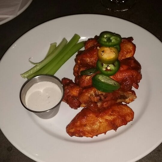 The spicy Sriracha wings are the bomb!