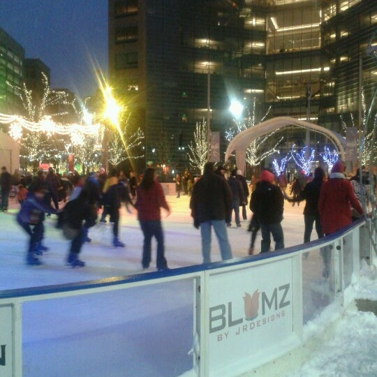 Photo taken at Campus Martius Park by Tim F. on 12/29/2012