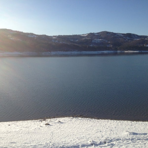 Photo taken at Lago di Suviana by Valentina B. on 3/3/2013